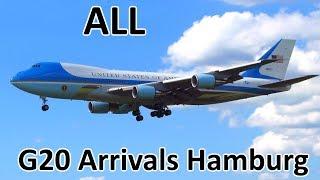 G20 Hamburg   ALL Government/Presidential Aircraft Arrivals - Planespotting at Hamburg (2017)