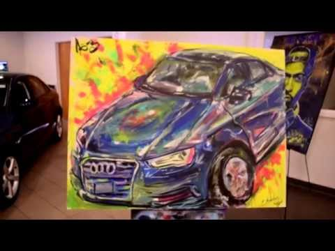 2015 Audi A3 Release-Live Painting by E. Andaluz (On Da Loose)