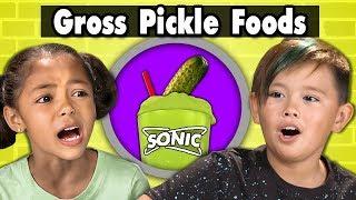 KIDS TRY GROSS PICKLE FLAVORED FOODS! Kids Vs. Food