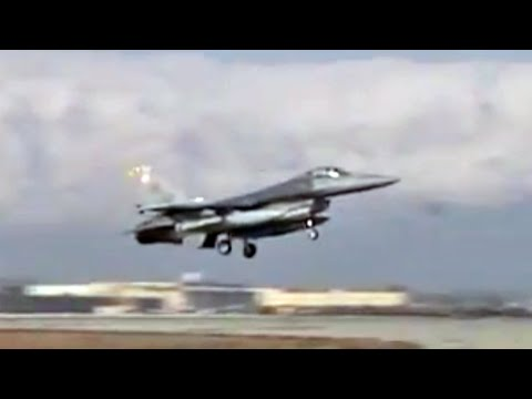 F-16s Take Off From Bagram Airfield, Afghanistan