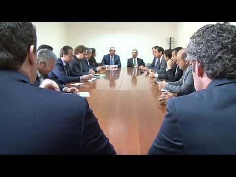 Reunión de Paulino Rivero con las empresas de la misión institucional y empresarial a Mauritania