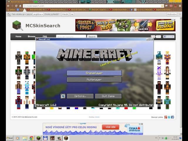 Minecraft skin pro warez uplně zdarma 100% funkční :)
