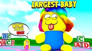 BECOMING THE LARGEST BABY in the WORLD (Roblox)
