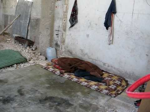 Home exhibiting signs of extreme poverty in Gaza refugee Camp (watch until end)