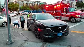 Bellevue Traffic Collision Car Crash Auto Accident Two Vehicles Washington State 091517 USA PT