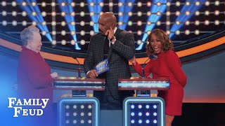 Marjorie would swap Steve for WHAT? | Celebrity Family Feud