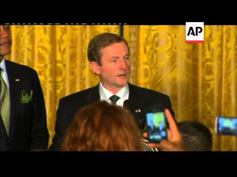 President Obama welcomes Irish PM Kenny to White House