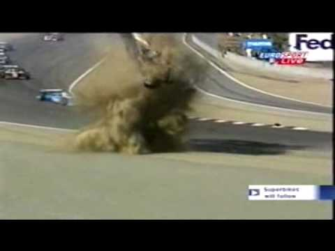 Oriol Servia's weird crash at Laguna Seca Video