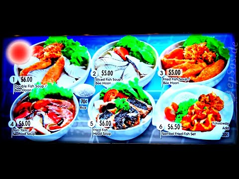 Asian Street Food and Snacks in Singapore of Asia