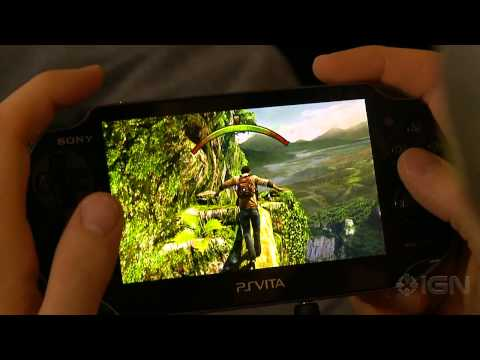 10 Minutes of Uncharted: Golden Abyss PS Vita Gameplay [Off Screen]