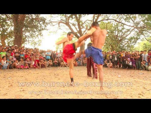 Lethwei Burmese Boxing [HD] - Kid's Fightevent near Hpa An (3) - Kayin State Myanmar - Thingyan 2013 Image 1