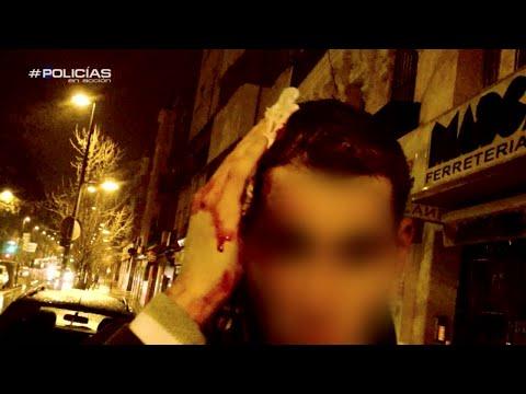 Agresión de la banada 'Ñetas' - Policías en acción