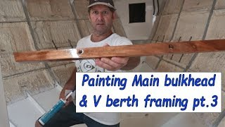 Building my steel sailing yacht Ep.30 Painting bulkheads & V berth framing pt.3