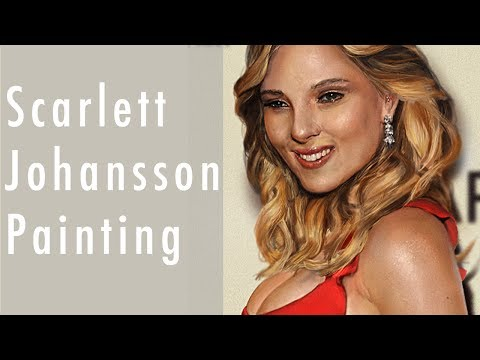 Scarlett Johansson Digital Painting
