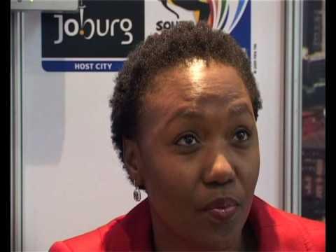 Lindiwe Mahlangu - CEO Johannesburg Tourism Company @ Meetings Africa 2009