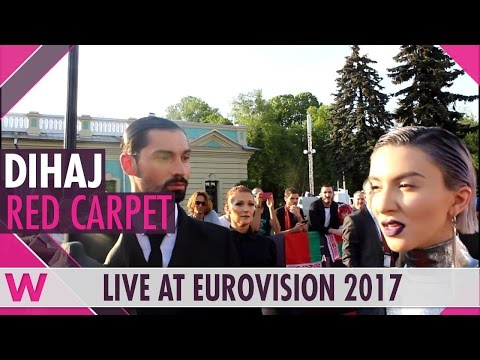 Dihaj (Azerbaijan) Interview @ Eurovision 2017 Opening Ceremony Red Carpet | wiwibloggs