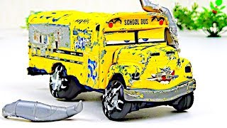 Miss Fritter Crash & Repair!  Disney Cars Toys Video for Kids