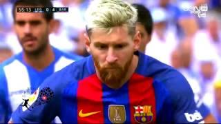 اهداف مباراة برشلونة وليغانيس 5 1 شاشة كاملة تعليق حفيظ دراجي 17 9 2016 HD
