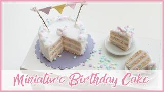 FIMO Birthday Cake   miniature polymerclay   DIY how to