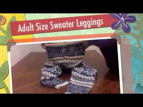 How to Make Adult Size Sweater Leggings