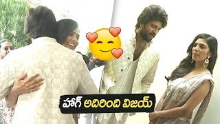 Vijay Devarakonda Tight Hug to his Heroine | Vijay Deverakonda and Mythri Movie Makers Hero launch