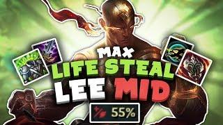 Voyboy   INSANE MAX LIFESTEAL LEE SIN MID!
