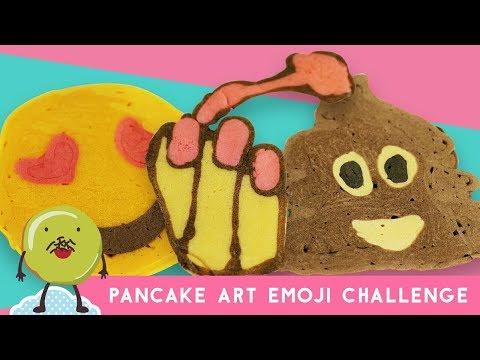 Pancake Art Emoji Challenge With Yuda Bustara