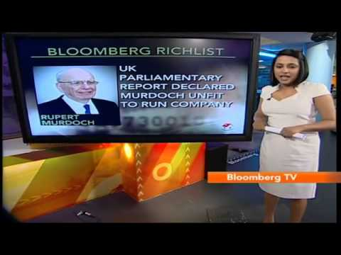In Business: Bloomberg Rich List: Rupert Murdoch