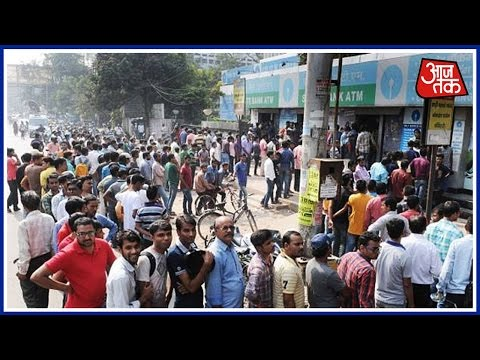 Special Report: Views Of People In Queue Of ATMs And Banks