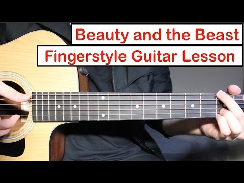 Beauty And The Beast | Fingerstyle Guitar Lesson (Tutorial) How To Play Fingerstyle