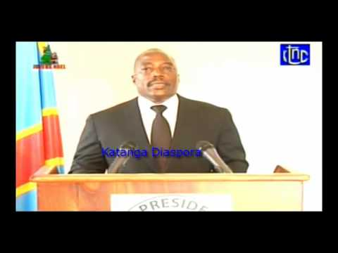 Discours a Lubumbashi de JOSEPH KABILA aux dignitaires katangais