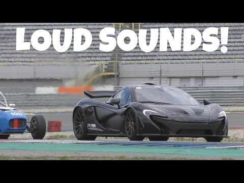 Black Mclaren P1 in ACTION on the Track!