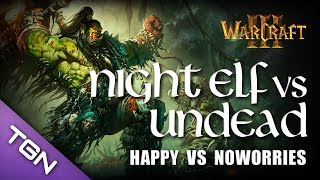 Warcraft 3 - Happy (Undead) vs NoWorries (Night Elf) - Twisted Meadows