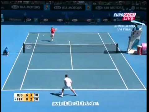 Australian Open 2008 Djokovic vs Ferrer Highlights