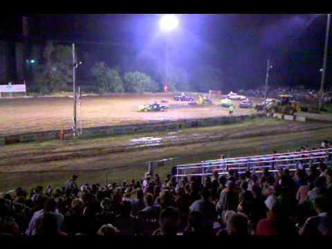 Carroll County Fair Iowa - Figure 8 races Coon Rapids Ia 7/14/12