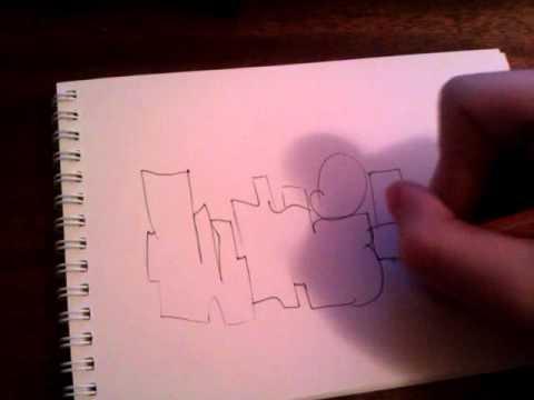 Уроки граффити на бумаге - видео