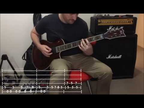 Killswitch Engage - Holy Diver (Dio Cover) -- Quick Riff Guitar Lesson #1