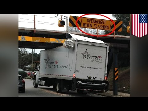 'Can Opener' bridge in North Carolina eats trucks despite new warning system - TomoNews