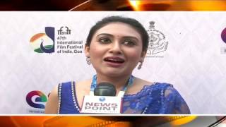 #IFFI2016Red Carpet:  Interaction with film actress Kusum Sikder