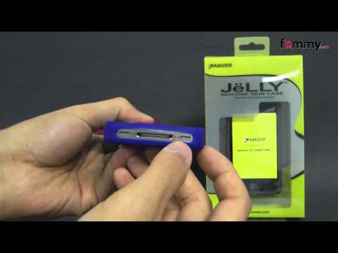 Amzer® Silicone Skin Jelly Case for iPhone 4/4S Review in HD