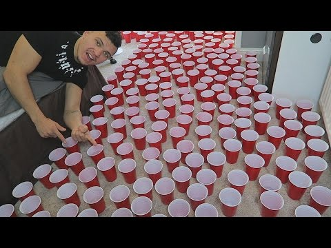 WATER FILLED CUPS PRANK