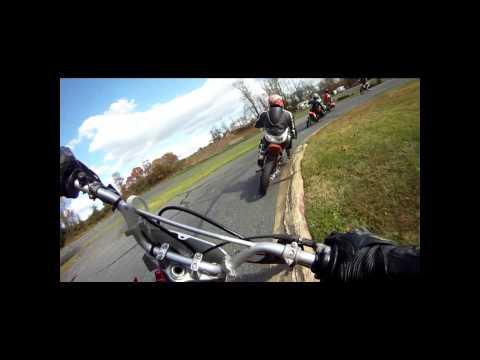 Motociclista con suerte