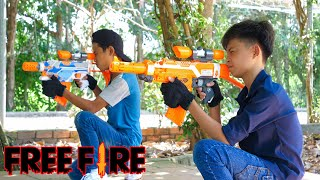 NERF WAR FREE FIRE IS REAL BATTLE