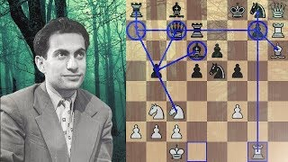 Mikhail Tal takes his opponent into a deep dark forest