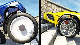 Beamng drive - Large vs Little Wheels #2