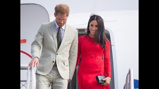 Meghan Markle Has Minor Wardrobe Malfunction as She Arrives in Tonga With Prince Harry