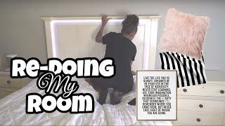 Redoing My Room/Room Makeover | LexiVee03
