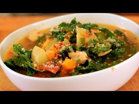 Leftover Turkey & Kale Soup - Clean & Delicious® Recipe