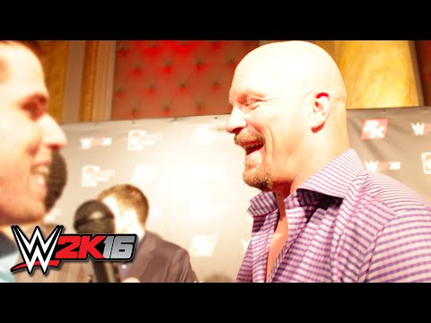 WWE SummerSlam 2015 - Stone Cold Steve Austin Interview (WWE 2K16 Event)