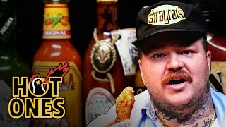 Matty Matheson Turns Into a Motivational Speaker Eating Spicy Wings | Hot Ones
